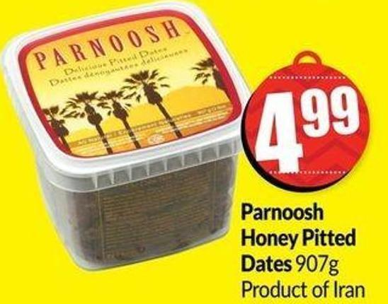 Parnoosh Honey Pitted Dates 907g Product of Iran