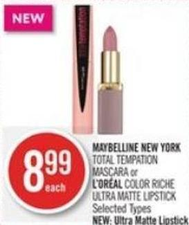 Maybelline New York  Total Tempation or L'oréal Color Ultra Lipstick