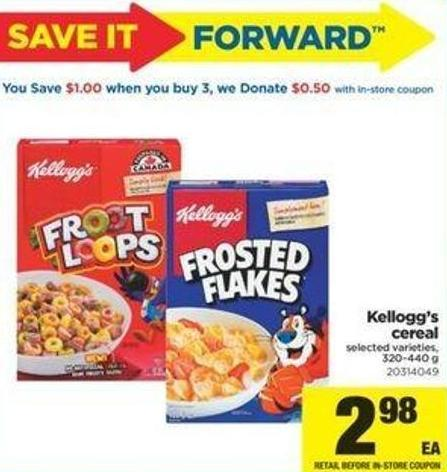 Kellogg's Cereal - 320-440 G