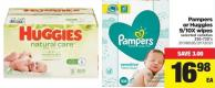 Pampers Or Huggies 9/10x Wipes - 336-720's