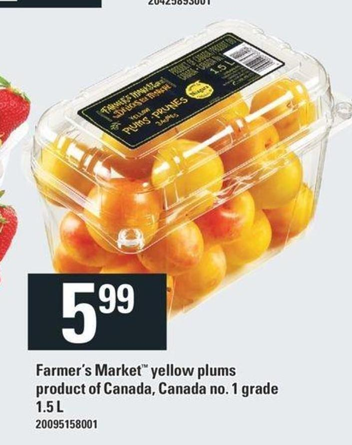 Farmer's Market Yellow Plums - 1.5 L