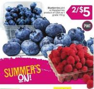 Blueberries Pint or Raspberries Product of USA No 1 Grade 170 g