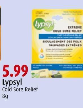 Lypsyl Cold Sore Relief 8g