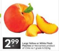Large Yellow or White Flesh Peaches or Nectarines