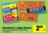 Hershey's Value Items - 100-182 g