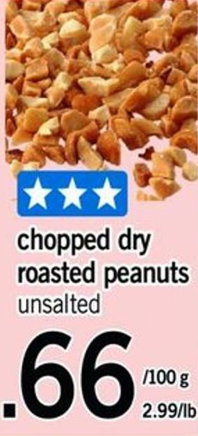 Chopped Dry Roasted Peanuts