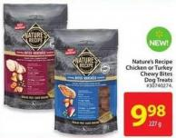 Nature's Recipe Chicken or Turkey Chewy Bites Dog Treats