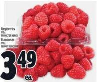 Raspberries 170 g Product of Mexico