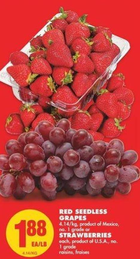 Red Seedless Grapes - Strawberries