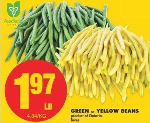 Green Or Yellow Beans