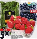 Strawberries 454 G - Product Of U.S.A. - No. 1 Grade Blueberries Pint - Product Of U.S.A. - No. 1 Grade Attitude Salads 128 - 142 G - Product Of U.S.A.