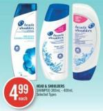 Head & Shoulders Shampoo 380ml - 400ml