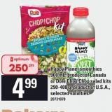 Happy Planet Smoothies 900 Ml - Or Dole Chop Chop Salad Kits 290-408 G