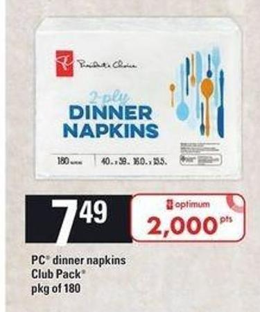 PC Dinner Napkins - Pkg of 180