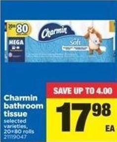 Charmin Bathroom Tissue - 20=80 Rolls