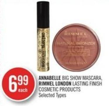 Annabelle Big Show Mascara - Rimmel London Lasting Finish Cosmetic Products