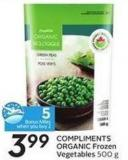 Compliments Organic Frozen Vegetables 500 g 5 Air Miles Bonus Miles