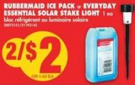 Rubbermaid Ice Pack or Everyday Essential Solar Stake Light