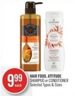 Hair Food - Attitude Shampoo or Conditioner