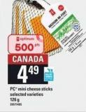 PC Mini Cheese Sticks - 126 g