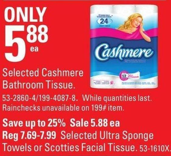 Selected Cashmere Bathroom Tissue