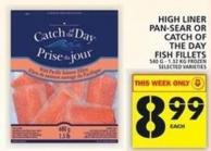 High Liner Pan-sear Or Catch Of The Day Fish Fillets