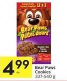 Bear Paws Cookies 337-540 g