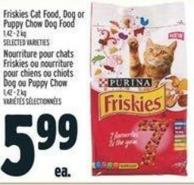 Purina Friskies Cat Food - Dog Or Puppy Chow Dog Food 1.42 - 2 Kg