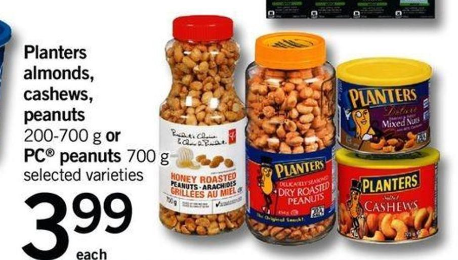 Planters Almonds - Cashews - Peanuts 200-700 G Or PC Peanuts - 700 G