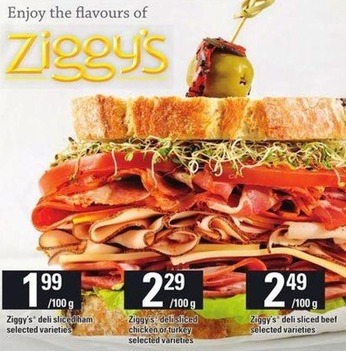 Ziggy's Deli Sliced Beef