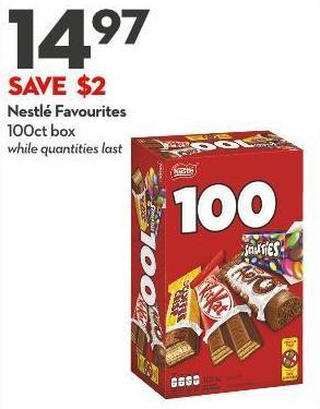 Nestlé Favourites 100ct Box While Quantities Last