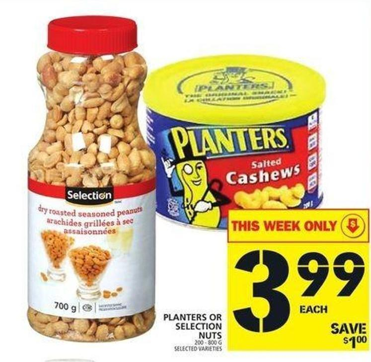 Planters Or Selection Nuts