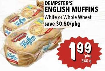 Dempster's English Muffins 340 g