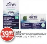 Karen Marine Phytoplankton Antioxidant Powder (15g) or Tablets (30's)