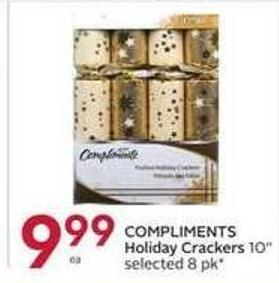 Compliments Holiday Crackers