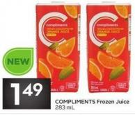 Compliments Frozen Juice