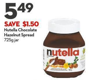 Nutella Chocolate  Hazelnut Spread  725g Jar