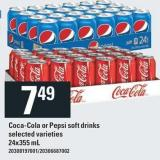 Coca-cola Or Pepsi Soft Drinks - 24x355 mL