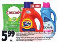 Tide Laundry Or Cascade Dishwasher Detergent - Bounce Or Downy Fabric Softener - Febreze Air Freshener Or Swiffer Refills