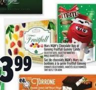 Mars M&m's Chocolate Bag Or Ganong Fruitfull Gummy Candy
