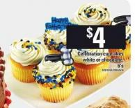 Celebration Cupcakes - White or Chocolate 6's