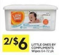 Little Ones By Compliments Wipes 64-72 Pk