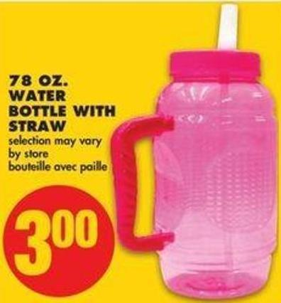 78 Oz. Water Bottle With Straw