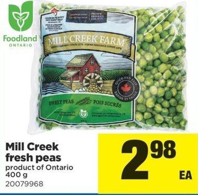 Mill Creek Fresh Peas - 400 G
