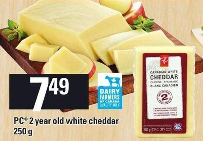 PC 2 Year Old White Cheddar - 250 G