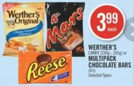 Werther's Candy (230g - 245g) or Multipack Chocolate Bars (4's)