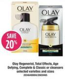 Olay Regenerist - Total Effects - Age Defying - Complete & Classic Or Cleansers