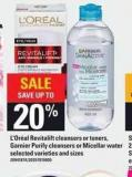 L'oréal Revitalift Cleansers Or Toners - Garnier Purify Cleansers Or Micellar Water