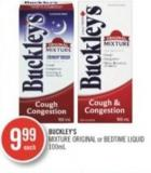 Buckley's Mixture Original or Bedtime Liquid 100 ml