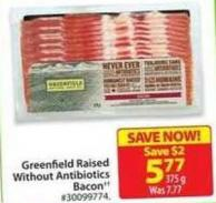 Greenfield Raised Without Antibiotics Bacon